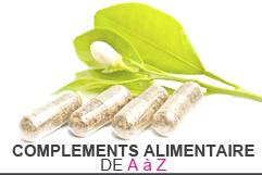Compléments alimentaires de A à Z à base de plantes